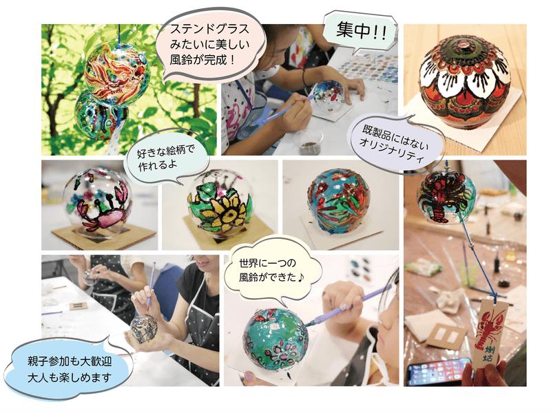 涼やかで華やか!〜オリジナルガラス風鈴作り〜【親子参加歓迎】の画像