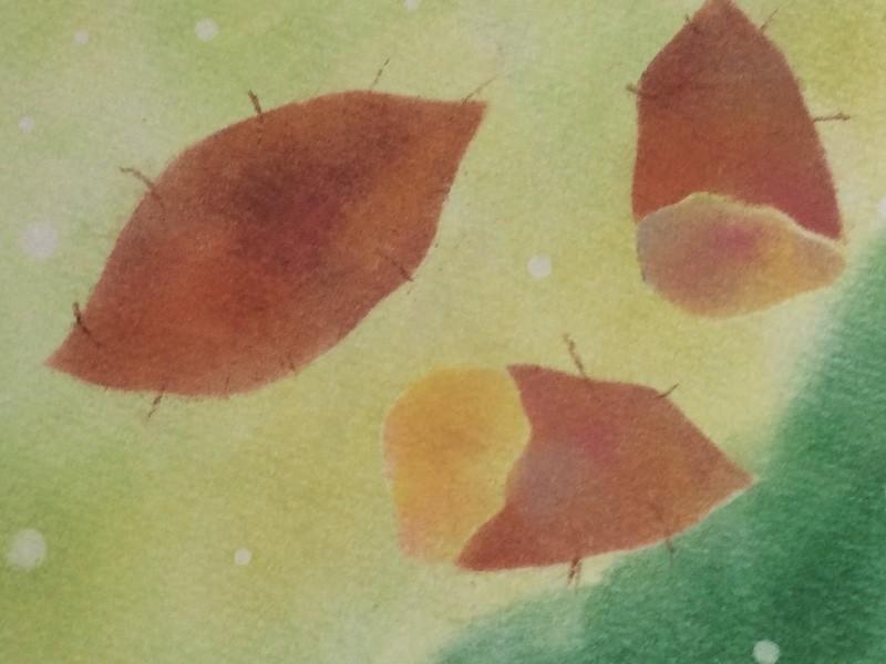 パステルアート季節の果物を描こうの画像