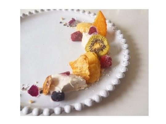 オレンジソルベとチョコナッツクランブル作りの画像