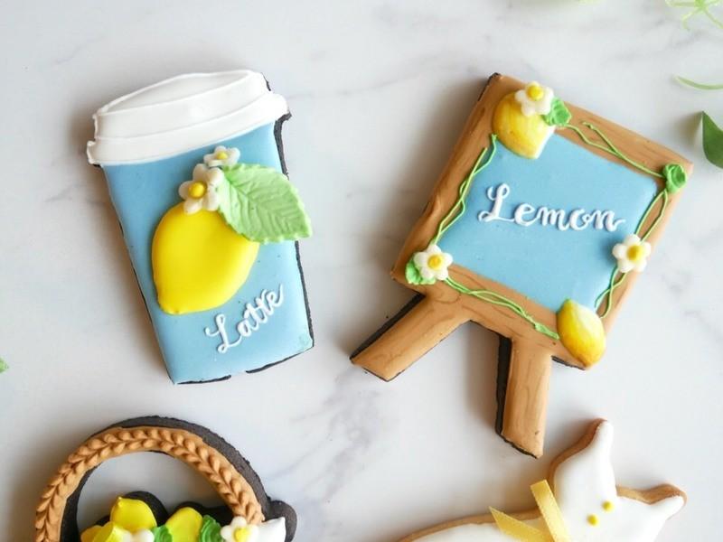 【8月9月限定】レモンワンピースでおでかけ♪アイシングクッキーの画像