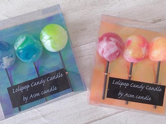 【アロマ付】ロリポップ キャンディ キャンドル作りの画像