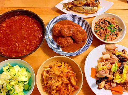 サンマの梅煮、味噌ハンバーグなど7品《作り置きレッスン②》の画像