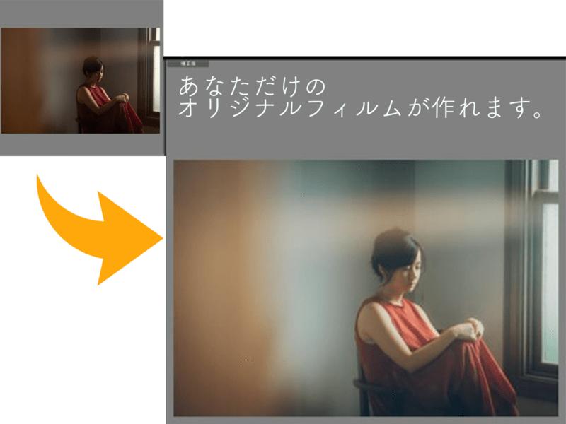 ライトルームRAW現像でフィルム風レタッチ<マンツーマン限定>の画像