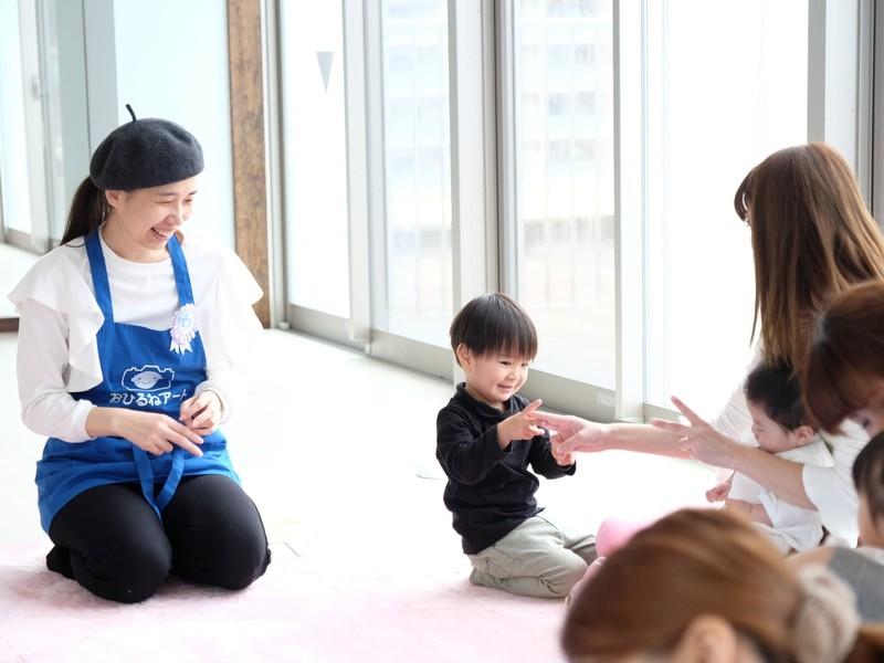 赤ちゃんと一緒に楽しもう!やさしいおひるねアート教室の画像