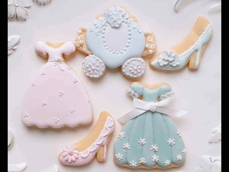 シンデレラ のアイシングクッキーを作りませんか?の画像