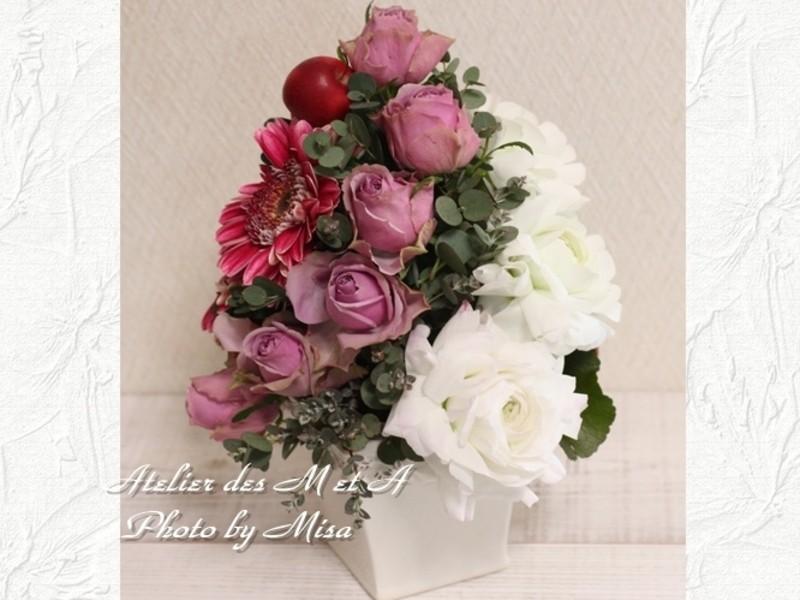 福岡☆暮らしにお花を~フランスの花~アレンジメント体験レッスンの画像
