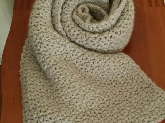 初心者でも簡単♪アルパカ毛糸で高級感のあるマフラーを作りますの画像