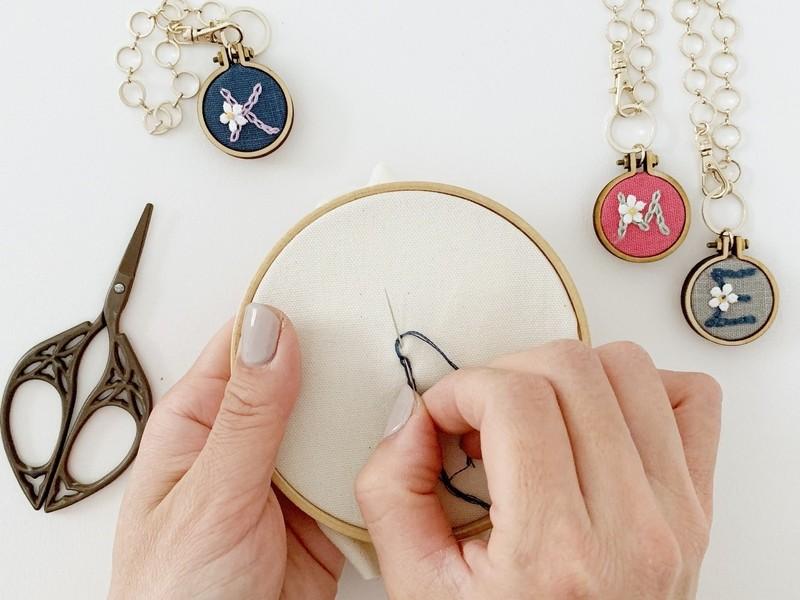 刺繍初心者さんのための「刺繍初級継続講座」の画像