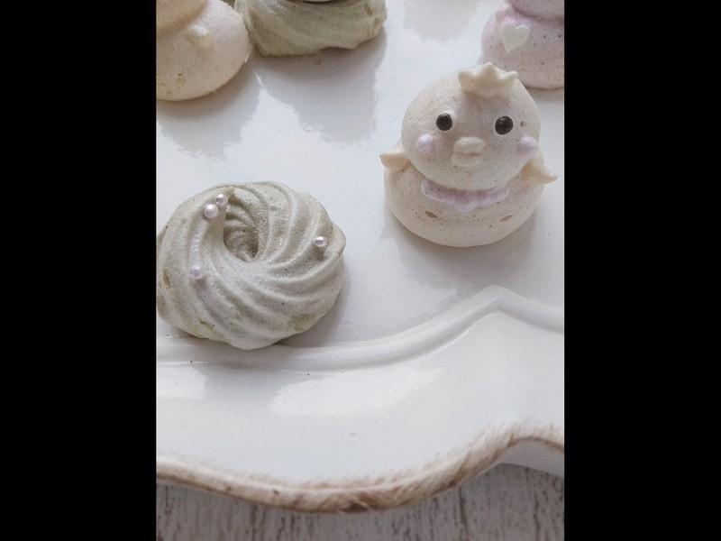 天然色素メレンゲクッキーのレッスン(ナチュナルメレンゲクッキー)の画像
