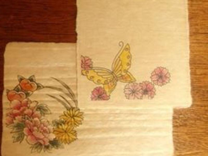 【コラボ企画!】自分で紙を漉いてつくる年賀状の画像