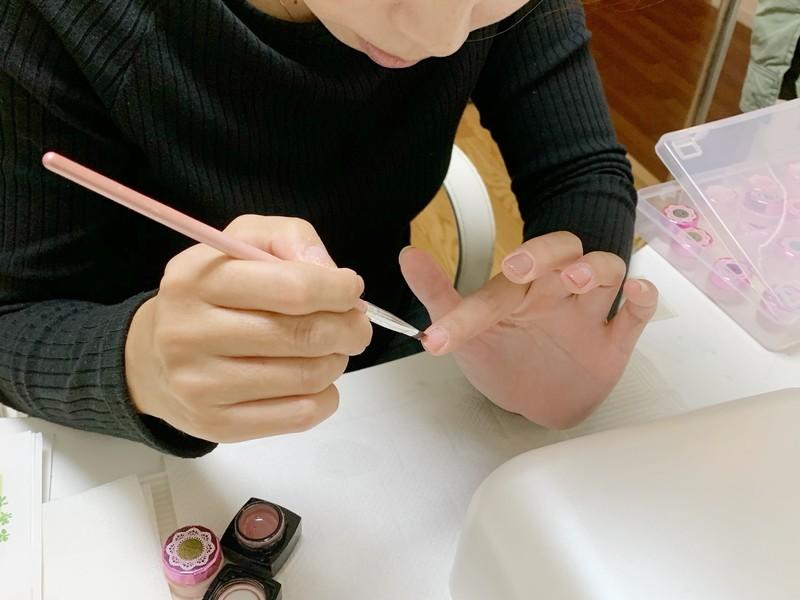 1日完結【京都西院】超初心者のためのセルフジェルネイルレッスンの画像