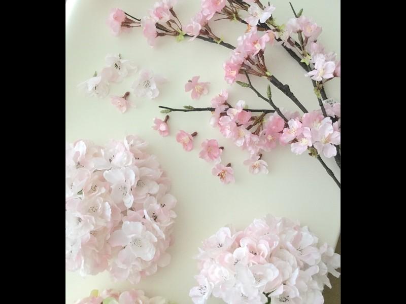 アロマ & フラワー 桜リース作り♪の画像