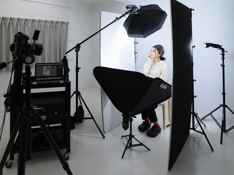 【多灯ストロボ】クリップオンで本格ポートレートスタジオライティングの画像