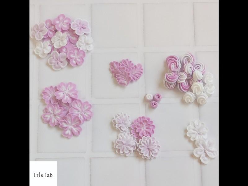 手とり足とり♪好きなグラデーションカラーで華やかお花パーツレッスンの画像