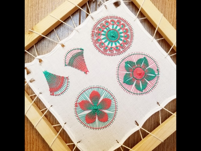 パラグアイの伝統工芸 虹色のレース刺繍ニャンドゥティ体験レッスンの画像