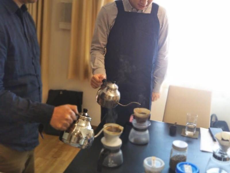 仕事終わりに癒しを!いりたてコーヒー講座 コーヒー豆焙煎体験会の画像