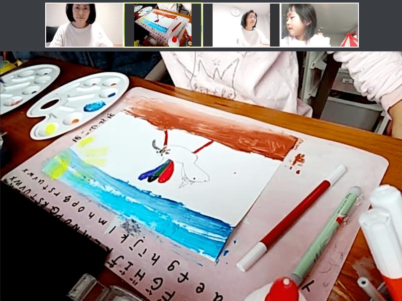 【オンラインアート教室】マスキングテープでアート体験!素敵な抽象画の画像