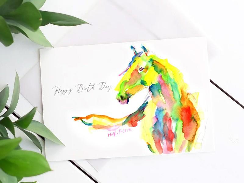 【手紙カード、インテリアに】アーティストとカラフルに描く👩🎨の画像