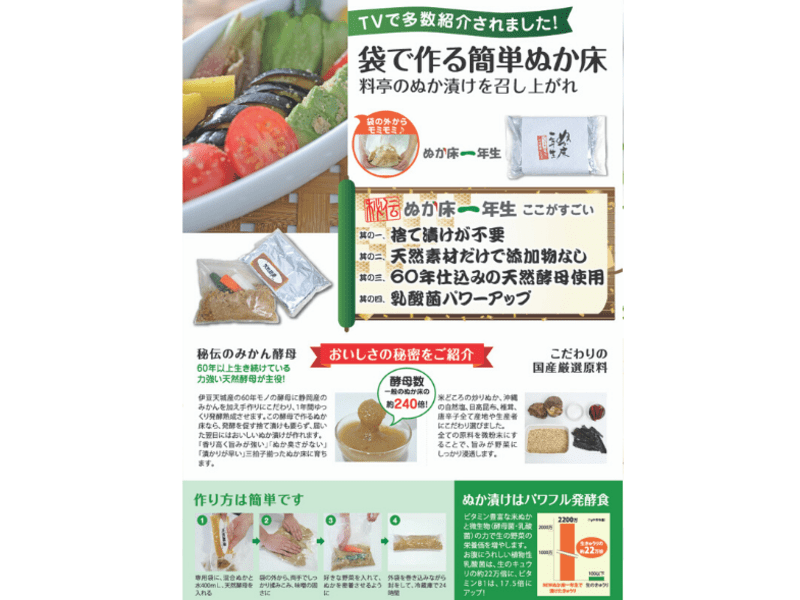 【オンライン開催】ぬか床キット事前配送!ぬか漬け教室の画像