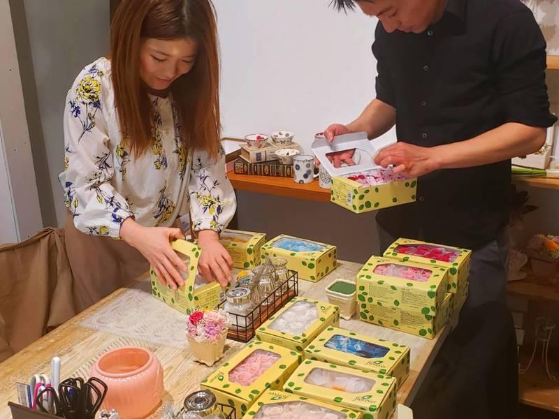 ワークショップ★プリザーブドフラワー作り★毎日開催の画像