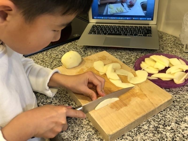 オンラインお菓子教室【簡単型なしリンゴタルト】を作ろう!の画像