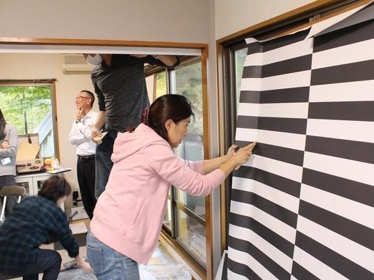 【戸建で行うDIY】第2回DIYイベント(貼って剥がせる壁紙体験)の画像