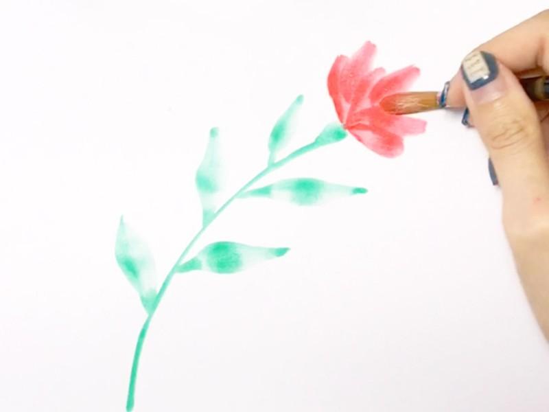 【オンライン講座】初心者歓迎!基本の葉っぱとお花の描き方の画像