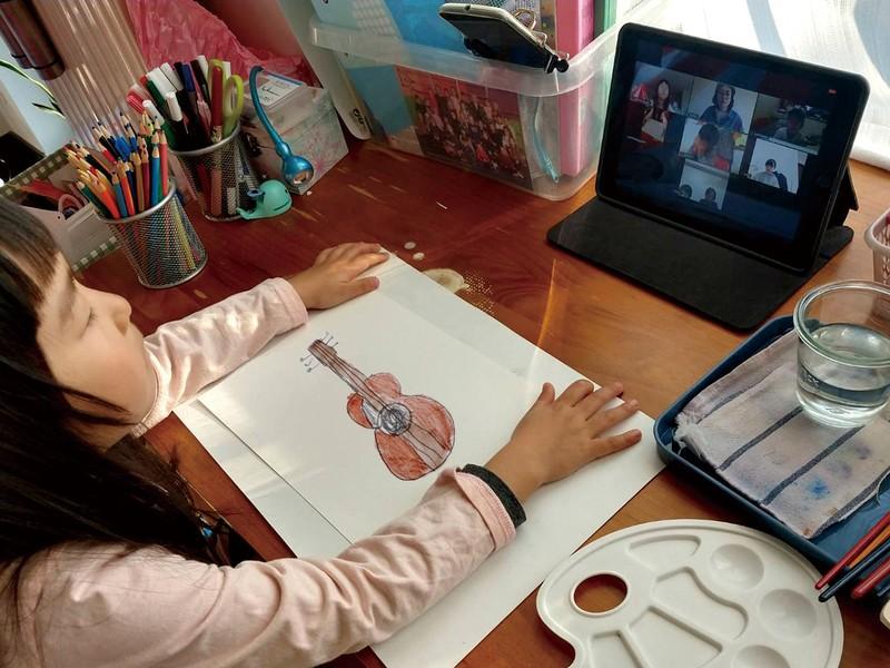《オンラインアート教室》色鉛筆のアートレッスンの画像