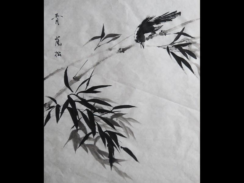 【オンライン教室】 初心者向け 「気軽に本格的な水墨画を描く」の画像
