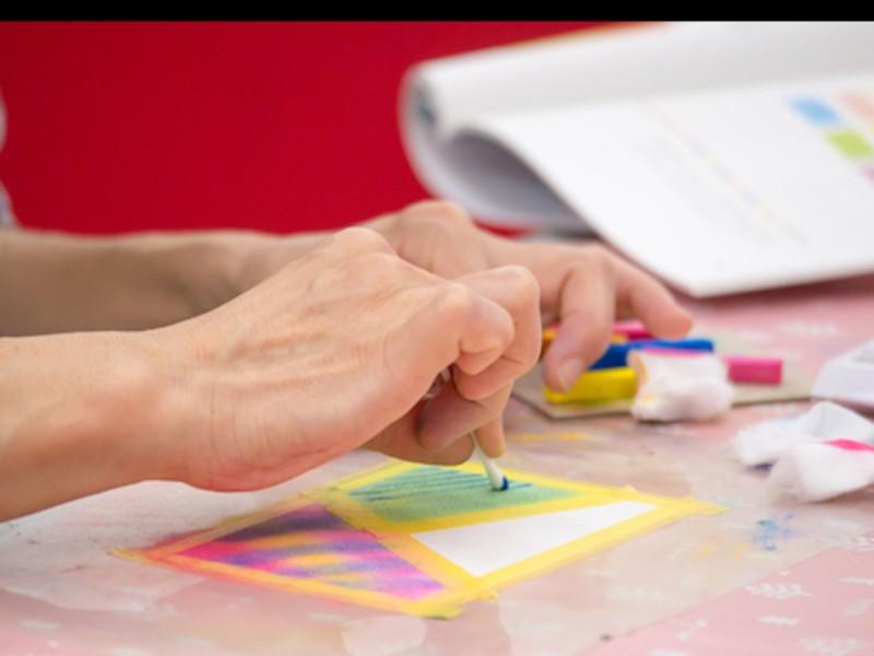 初心者歓迎☆ 3色パステルアート教室の画像