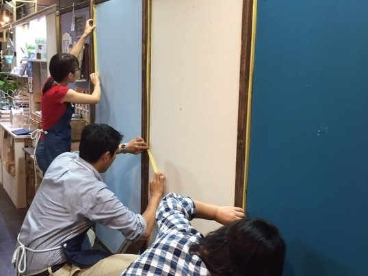 【壁のリノベーション】壁のペイント★ペイントのコツを体験してみようの画像