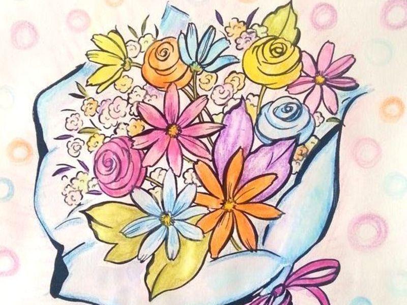 自分の可能性がよく判る色彩心理・自己分析ぬり絵ワークショップ初級Aの画像