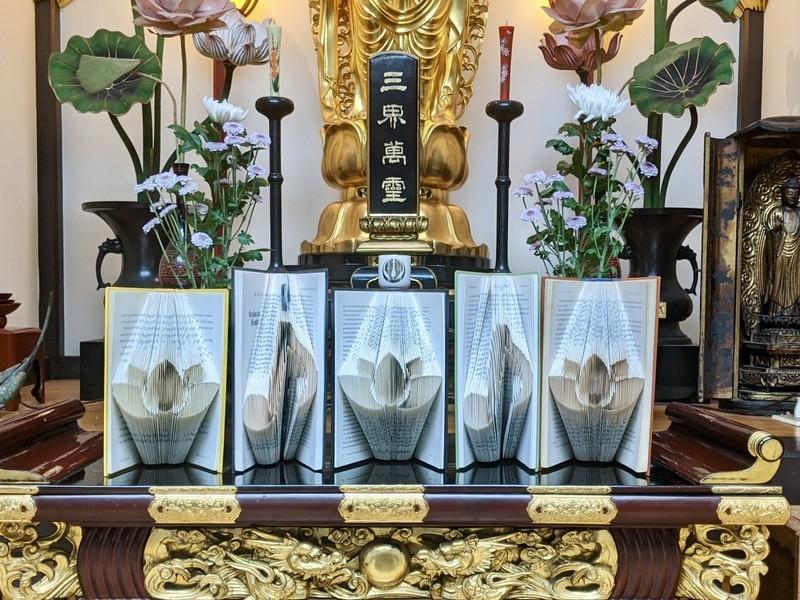 ブックフォールディング ワークショップ in 法音寺の画像