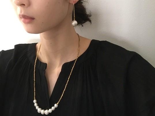 【初心者向け】パールのアンティークネックレス&ピアス・イヤリングの画像