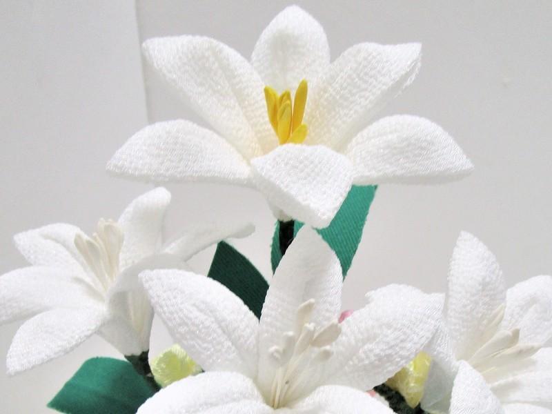 花のつまみ細工の画像