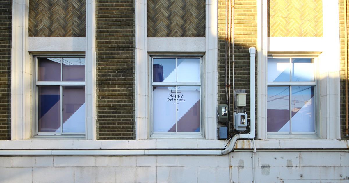 HappyPrinters BISHU-せんいの街のせんいのビルにあるファブスペース教室ページの見出し画像