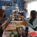 Chalk Art Studio PUFFINの講座の風景