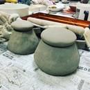 近藤南の出張陶芸教室の講座の風景
