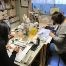 墨絵教室 世田谷 大蔵教室の講座の風景