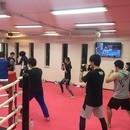 キックボクシング教室の講座の風景