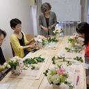 花仕事スキルアップ塾・Angel's Gardenの講座の風景