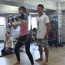 キックボクシング&やせるフィットネスの講座の風景