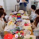 日本ギフトアレンジメント協会スクールの開催する講座の風景