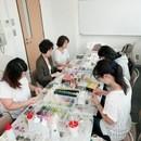 プリザーブドフラワー Petit Shukuruの講座の風景