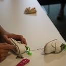 手縫いのベビーシューズが3時間で学べる講座の講座の風景