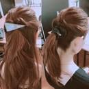 普段の髪型におしゃれなスパイス加えましょう❤︎の講座の風景