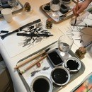 SUMI-E「そうだ、墨アートしようよ」の講座の風景