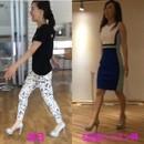 現役モデル 栗本奈央 美姿勢ウォーキングの講座の風景