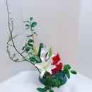 一葉式いけ花体験レッスンの講座の風景