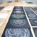 誰でも描ける◎楽描き曼荼羅アートの講座の風景
